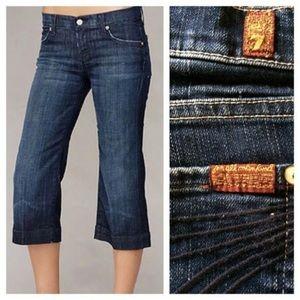 7FAMK Dojo Crop Jeans - Medium Wash Size 26